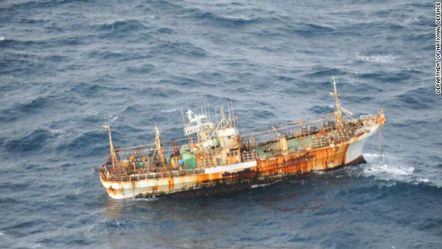 This fishing boat drifted to Canada from Japan